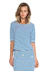 Embellished Top in Blue Striped