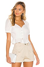 J.O.A. Hook Eye Front Top in Ivory