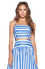 Striped Crop Top in Blue