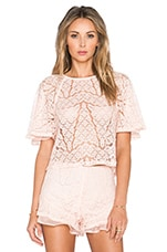 Lace Top in Blush Pink