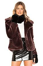 jocelyn Dyed Rex Rabbit Fur Cowl and Mitten Set in Black