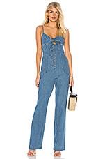 Joe's Jeans Lucia Denim Jumpsuit in Medium Indigo