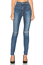The Bella High Rise Skinny in Distressed Medium Blue