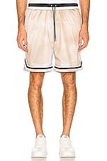 JOHN ELLIOTT Basketball Shorts in Olive & Mojave