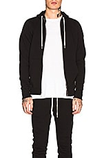 JOHN ELLIOTT Flash 2 Zip Hoodie in Black