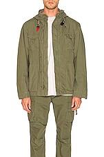 JOHN ELLIOTT Military Zip Field Jacket in Olive