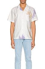 JOHN ELLIOTT Bowling Shirt in Balboa Ink Bloom