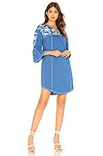 Joie Clodagh Mini Dress in Baja Blue White