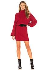 Joie Jelinelle Sweater Dress in Cambridge Red & Caviar