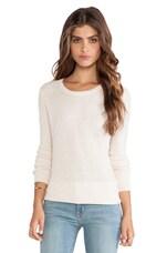 Idella Sweater in Heather Parchment & Heather Grey