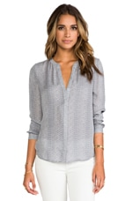 Joie Hanelle Reptile Printed Blouse in Mercury with Cool Lilac