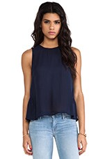 Ayana Silk Tank in Dark Navy