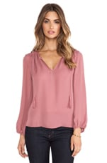 Odelette Blouse in Rouge