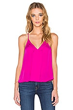 Georgette V Neck Tank in Freesia