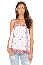 Joie Magali Tank in Porcelain & Shades of Coral Rose