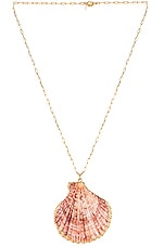 joolz by Martha Calvo Offshore Shell Necklace in Burgundy