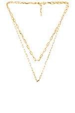 joolz by Martha Calvo Double Box Chain Necklace in Gold