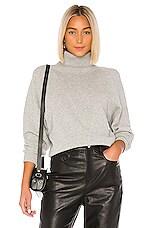 Joseph Cosy Wool Knit Sweater in Grey Chine