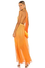 JONATHAN SIMKHAI Ombre Halter Maxi Dress in Amber Ombre