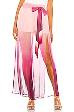 JONATHAN SIMKHAI Ombre Wide Leg Pant in Magenta Ombre