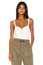 JONATHAN SIMKHA x REVOLVE Sleeveless Rib Bodysuit in White