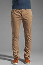 Slim Chinos in Dark Khaki