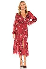 THE JETSET DIARIES Autumn Maxi Dress in Autumn Floral