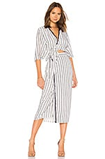 THE JETSET DIARIES Aries Stripe Shirt Dress in Navy & Ivory