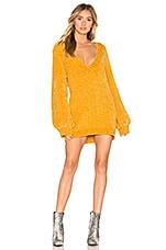 THE JETSET DIARIES Ti Amo Sweater Dress in Mustard