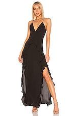 THE JETSET DIARIES Light My Fire Maxi Dress in Black