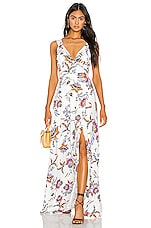 THE JETSET DIARIES Crazy In Love Maxi Dress in Crazy Love Floral Print