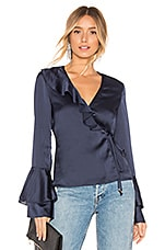 THE JETSET DIARIES Louvre Top in Blue Iris