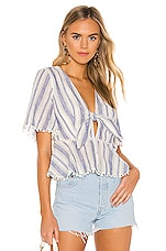 THE JETSET DIARIES Tiny Dancer Top in Ivory & Navy Stripe