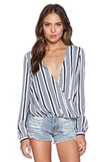 THE JETSET DIARIES Tragedy Shirt in Stripe Print