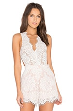 x Revolve Secret Lace Bodysuit in Ivory