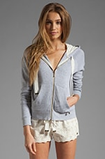 Eyelet Hoodie in Heather Cozy