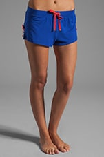 Ribbonslot Jersey Short in Seaside Blue