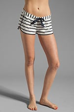 Stripe Lace Short in Angel/Regal