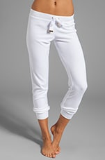 Cozy Terry Pant in White