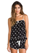 Songbird Charmeuse Cami in Pitch Black Songbird