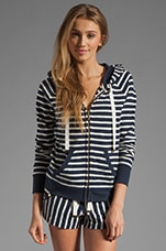 Harbor Stripe Hoodie in Regal Stripe