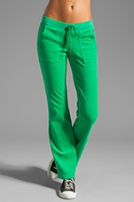 Velour Bling Snap Pocket Pant in Lilypad