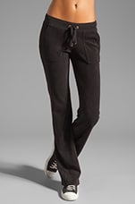 Terry Snap Pocket Pant in Black