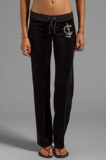 Velour Juicy Rocks Pant in Black