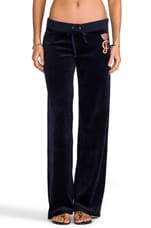 Crown Cameo Velour Pant in Regal