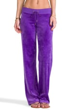 Velour Original Leg Pant in Bright Violet