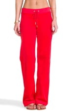 Velour Original Leg Pant in Lipstick Red