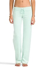 Velour Original Leg Pant in Aqua Glass