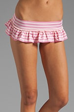 Boudoir Stripe Skirted Bottom in Bardot