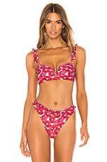 Juillet x REVOLVE Shiloh Bikini Top in Pink Poppy